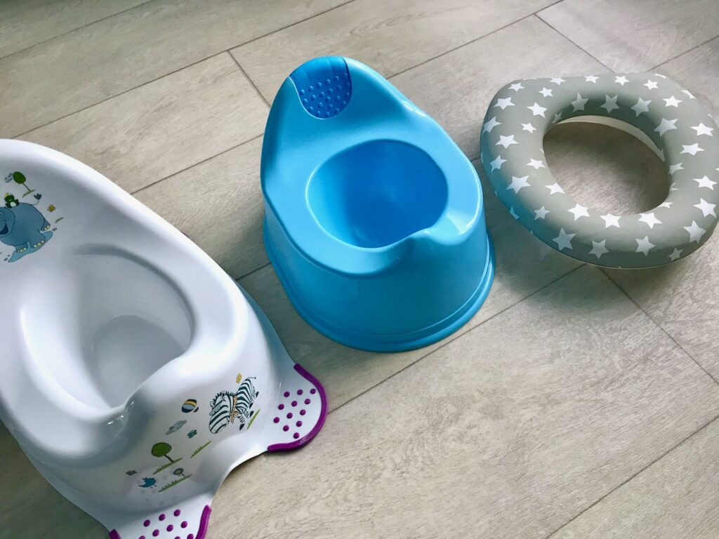 A choice of potties and toilet training seats.